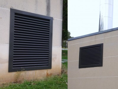 Grilles de ventilation d lai et couleurs r alisations for Porte avec grille de ventilation