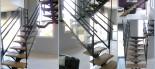 Escalier suspendu Acier Bois et verre (DOL  DE BRETAGNE 35)